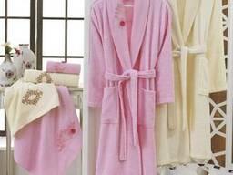 Халаты банные махровые