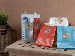 Вафельные полотенца в наборе