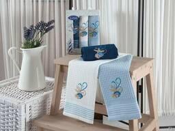Вафельные полотенца в наборе - фото 2