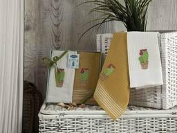 Вафельные полотенца в наборе - фото 4