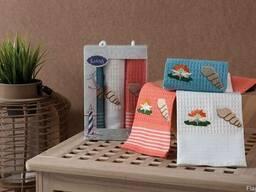 Вафельные полотенца в наборе - фото 5