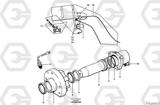 Volvo 12727718 грейдера Lock Cylinder