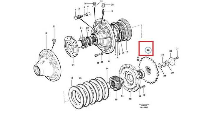 Volvo 12745692 Tandems Автогрейдеры