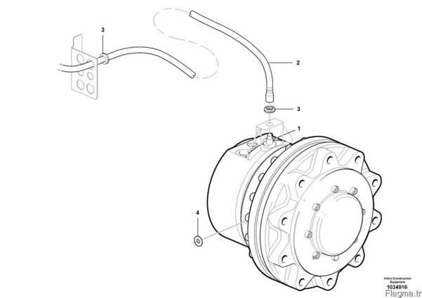 Volvo 15403447/ 12747617 Гидромотор автогрейдера.