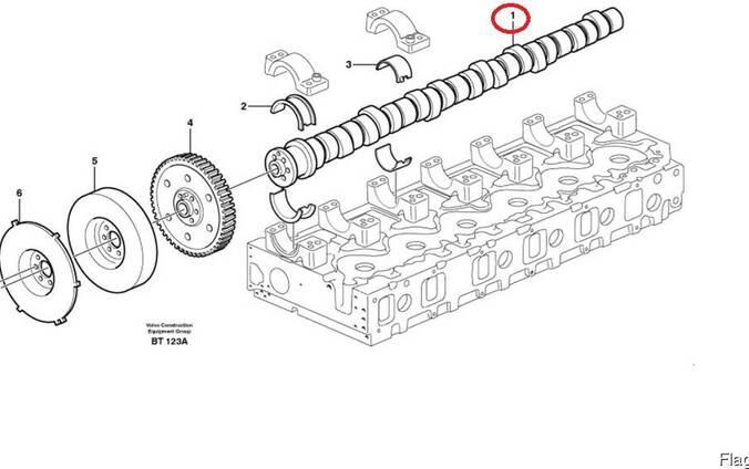 Volvo E3165224 / 20576909 / 3165423 Распредвал