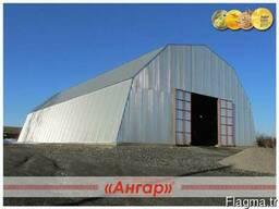 Ангары арочные, склады, цеха, зернохранилища ширина от 8м д