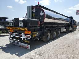 Bitumen tanker trailers. Прицепы-цистерны битумные