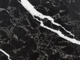 Чёрный мрамор Corona Dark 3 см слэб