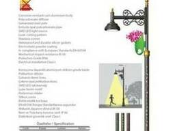 Декоративные осветительные столбы от производителя
