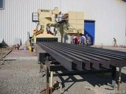 Дробеметная установка туннельного типа, для листового и пр