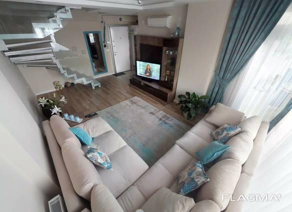Элитная квартира -дуплекс в Анталии с отдельной кухней, 2 1 в Коньяалты