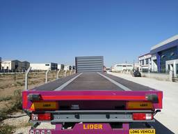 Flatbed semi trailer from manufacturer