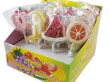Fruit heart shaped lollipop sweet candy - photo 3