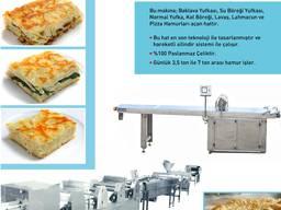 Mertem makine'den Börek hatları. Lahmacun- pizza hatları