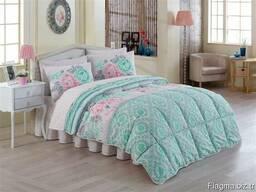 Одеяла стёганные в комплекте с пастельным бельём - фото 3