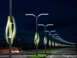 Опоры освещения и осветительные светильники