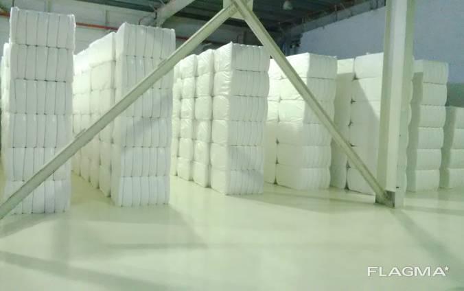 Отбеленное хлопковое волокно из туркменистана