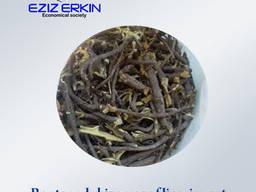 Kesilmiş meyan kökü ve rizomları