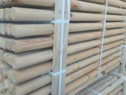 Rounded poles (pins, logs, bars )
