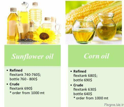 Sunflower oil and corn oil